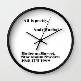 WARHOL All is pretty Wall Clock