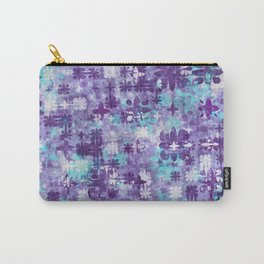 Purple Grime Foral Carry-All Pouch