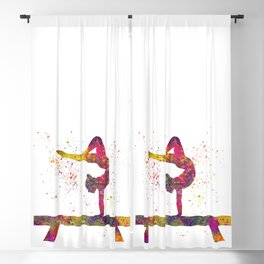 Rhythmic gymnastics competition in watercolor 05 Blackout Curtain