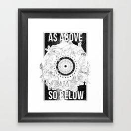 As Above, So Below - Zodiac Illustration Framed Art Print