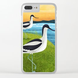 Two Avocets In Suffolk Clear iPhone Case