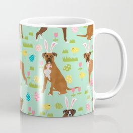 Boxer dog breed pet art easter spring dog gifts boxer dogs pure breed Coffee Mug