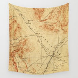 Vintage Map of The Las Vegas Valley NV (1907) Wall Tapestry