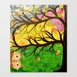 Owl Artwork By MiMi Stirn - Owl Photobomb #370 Canvas Print