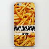 fries iPhone & iPod Skins featuring French Fries by Ispas Sorin