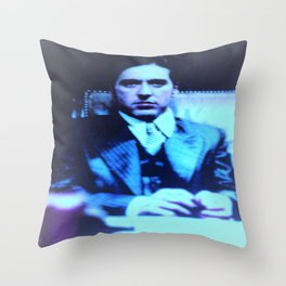 The Mob Boss At Work Throw Pillow