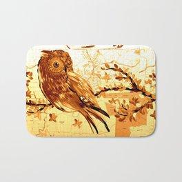 Owl on maps Bath Mat