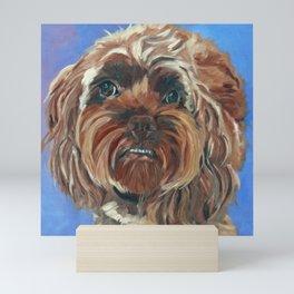 Shih Tzu Dog Portrait Mini Art Print