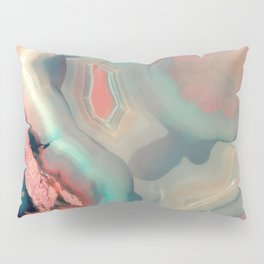 Living Coral and Water Agate Pillow Sham