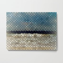 Pacific Waves Mosaic Metal Print