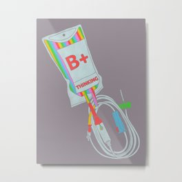 Be Positive Thinking Metal Print