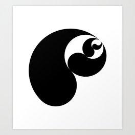 Yin Yang Shell Art Print