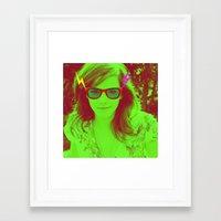 emma watson Framed Art Prints featuring Emma Watson by Zeke Cohen