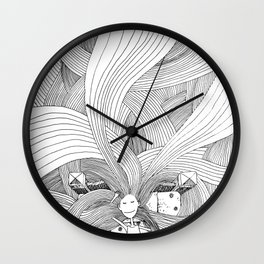 The girl with long hair Wall Clock