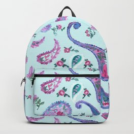 Paisley Rain Aqua Backpack