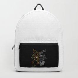 Geometric Fox, Black version Backpack