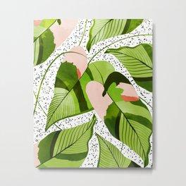 Blushing Leaves #illustration #painting Metal Print