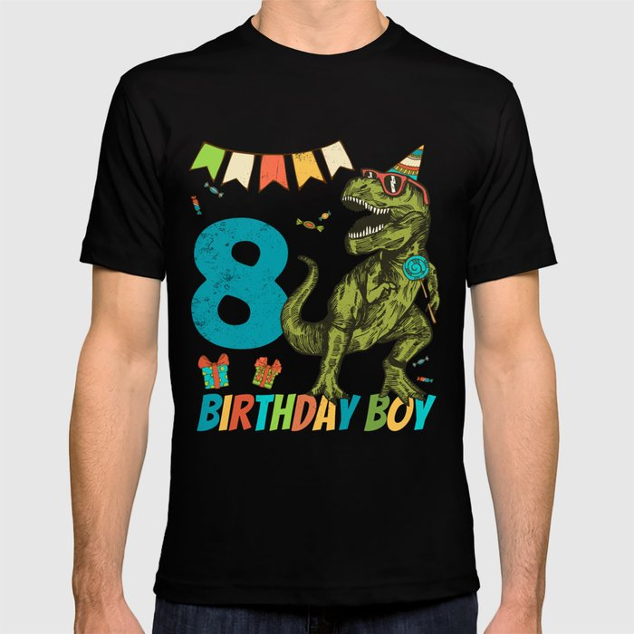 8 Year Olds Childrens Birthday Boy Party T Shirt By Blivedesigns