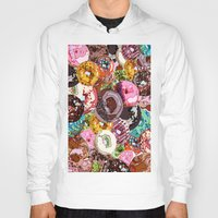 donuts Hoodies featuring Donuts by Tina Mooney