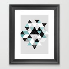 Graphic 202 Turquoise Framed Art Print
