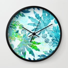 Tropical adventure - Blue Wall Clock