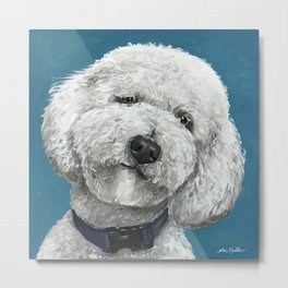 Cute Golden-Doodle, Colorful Golden Doodle Art, Labradoodle Art Metal Print