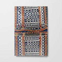 Qashqa'i Khorjin  Antique Fars Persian Tribal Bag Metal Print