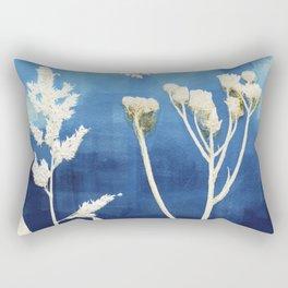 Blue Sky Yellow Flower Rectangular Pillow