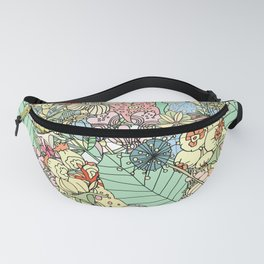 Nature Bloom Pattern Fanny Pack