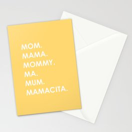MOM yellow Stationery Cards