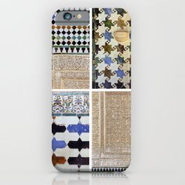 Mathematics and the Alhambra. Wall details. The Alhambra Palace. iPhone Case