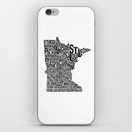 Minnesota Counties Map iPhone Skin