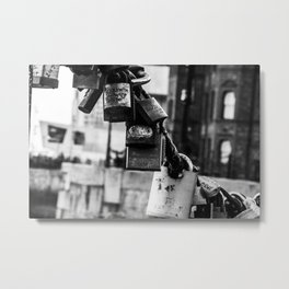 Lover's lock Metal Print