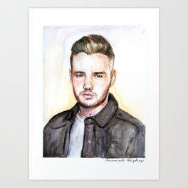 Liam Watercolors Art Print