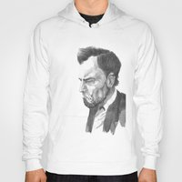 lincoln Hoodies featuring Lincoln 50 by David Sparvero