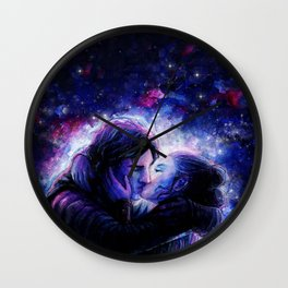 Lovers in Space Wall Clock