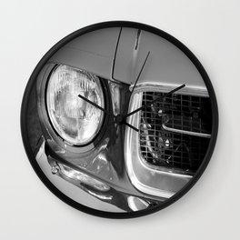 Vintage american car detail - Black & White Wall Clock