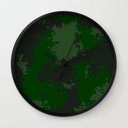 Camouflage jungle 1 Wall Clock