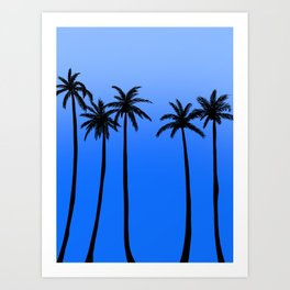 Blue Skies Palm Trees Art Print