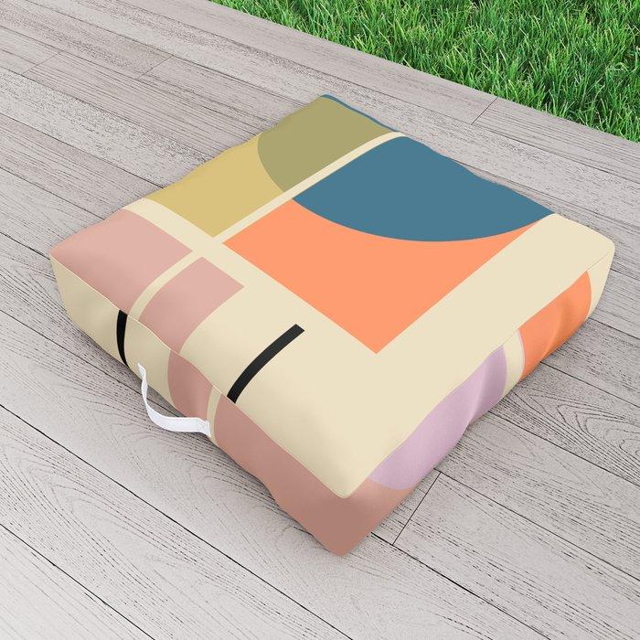 Modern geometric shapes Outdoor Floor Cushion