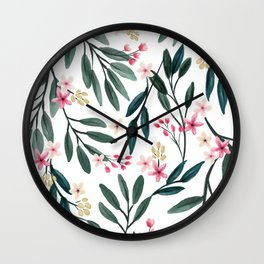 Branches with pink flowers Wall Clock
