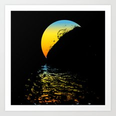 tropical moon Art Print