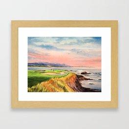 Pebble Beach Golf Course Hole 7 Framed Art Print
