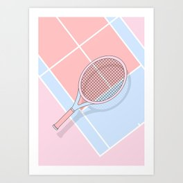Hold my tennis racket Art Print