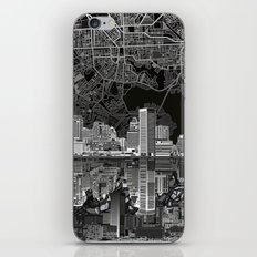 baltimore city skyline abstract 3 iPhone Skin