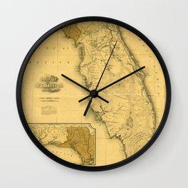 Florida 1823 Wall Clock