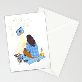 Tiny mountain Stationery Cards