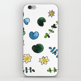 water lilies pattern iPhone Skin
