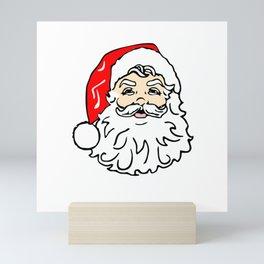 Santa Claus Cartoon Drawing Mini Art Print