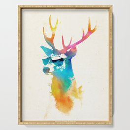Sunny Stag Serving Tray